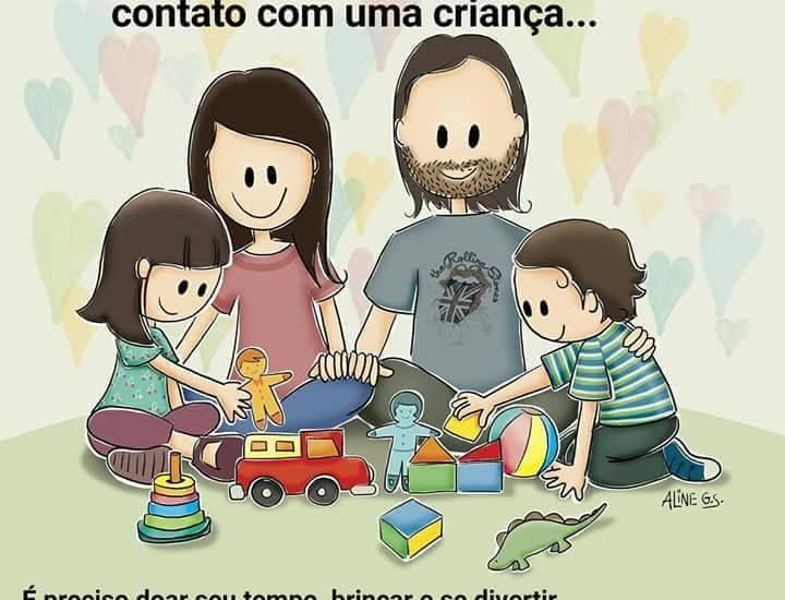 brinque com seus filhos